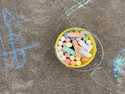 DIY Fun Sidewalk Chalk Obstacle Course