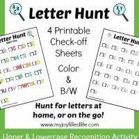Letter Hunt Printables