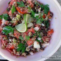 Bulgur Black Bean Salad with Tomato & Avocado