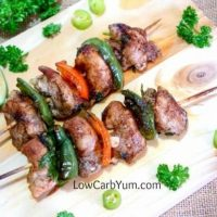 Low Carb Chicken Fajita on Skewers for BBQ