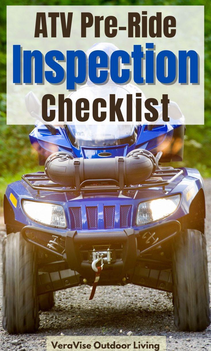 ATV pre ride inspection