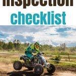 atv pre-riding checklist