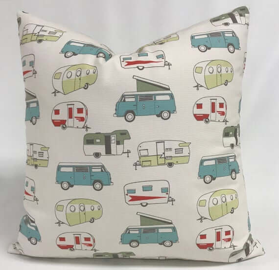 Vintage RV Pillow Cover