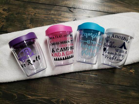 Clear Wine Camping Tumblers