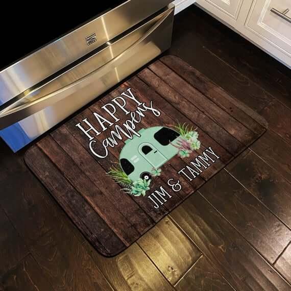 Personalized Custom CampSite Floor Mat