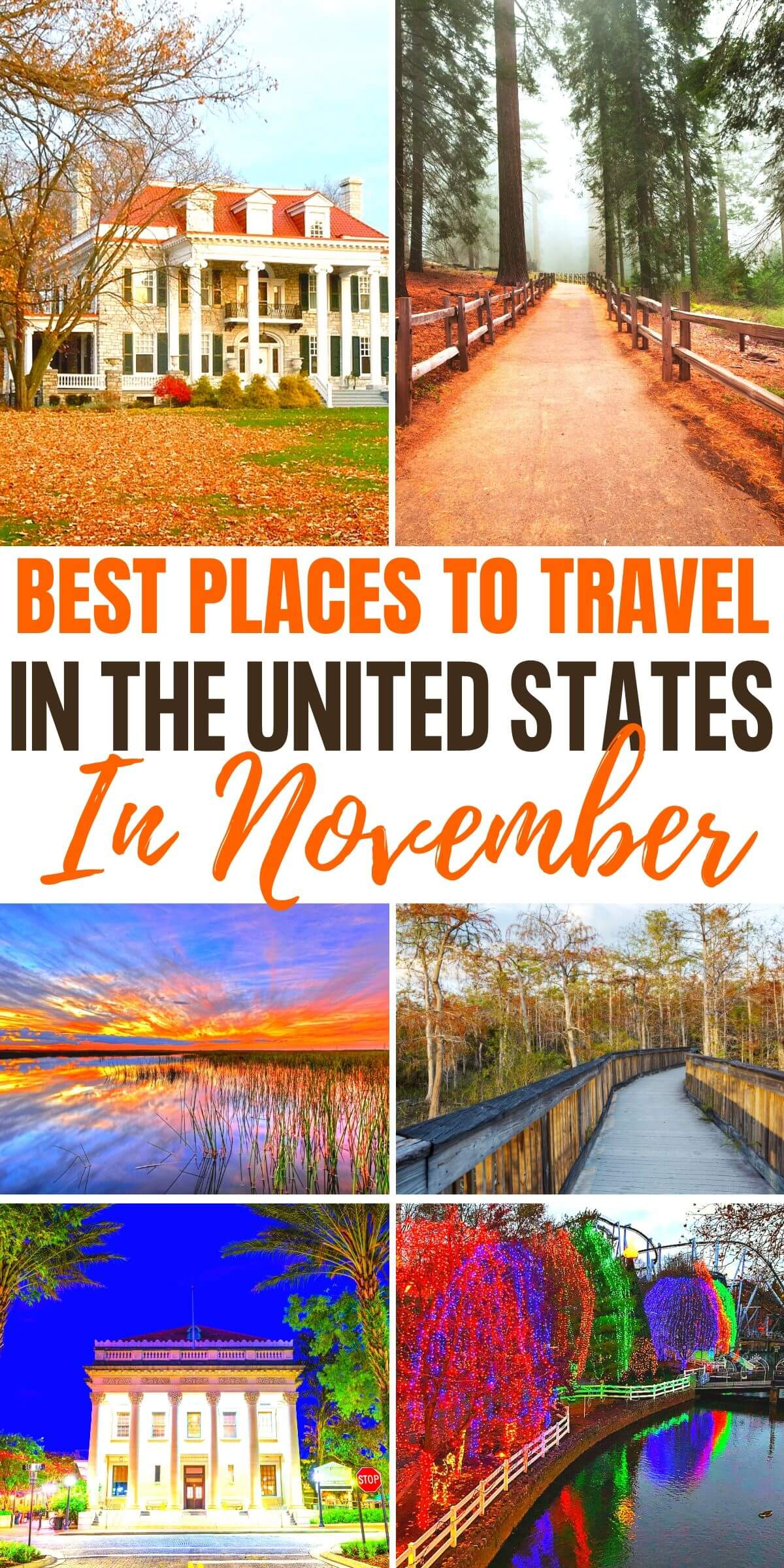 best places to travel in november in the usa
