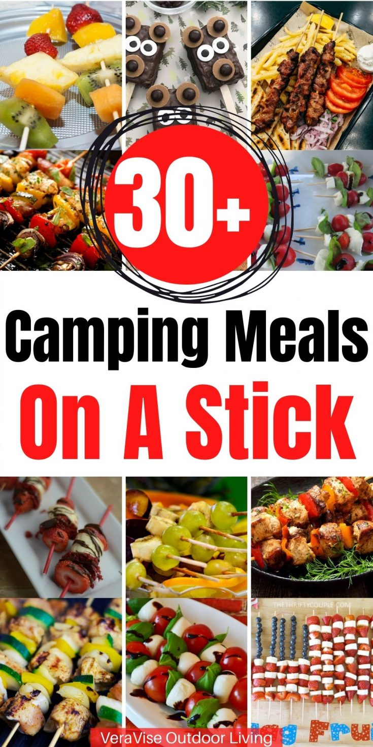 camping meals on a stick
