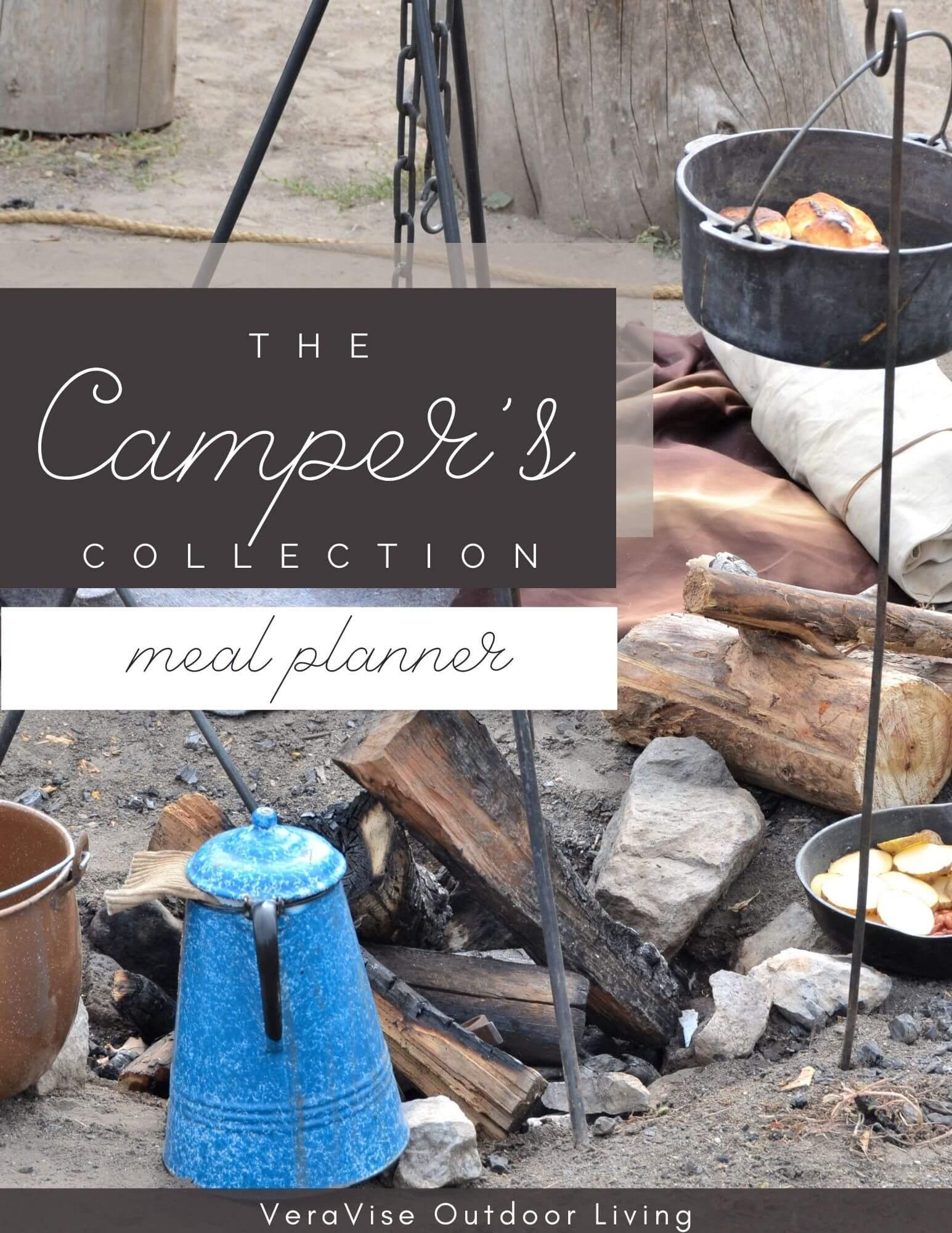 camping menu free printable