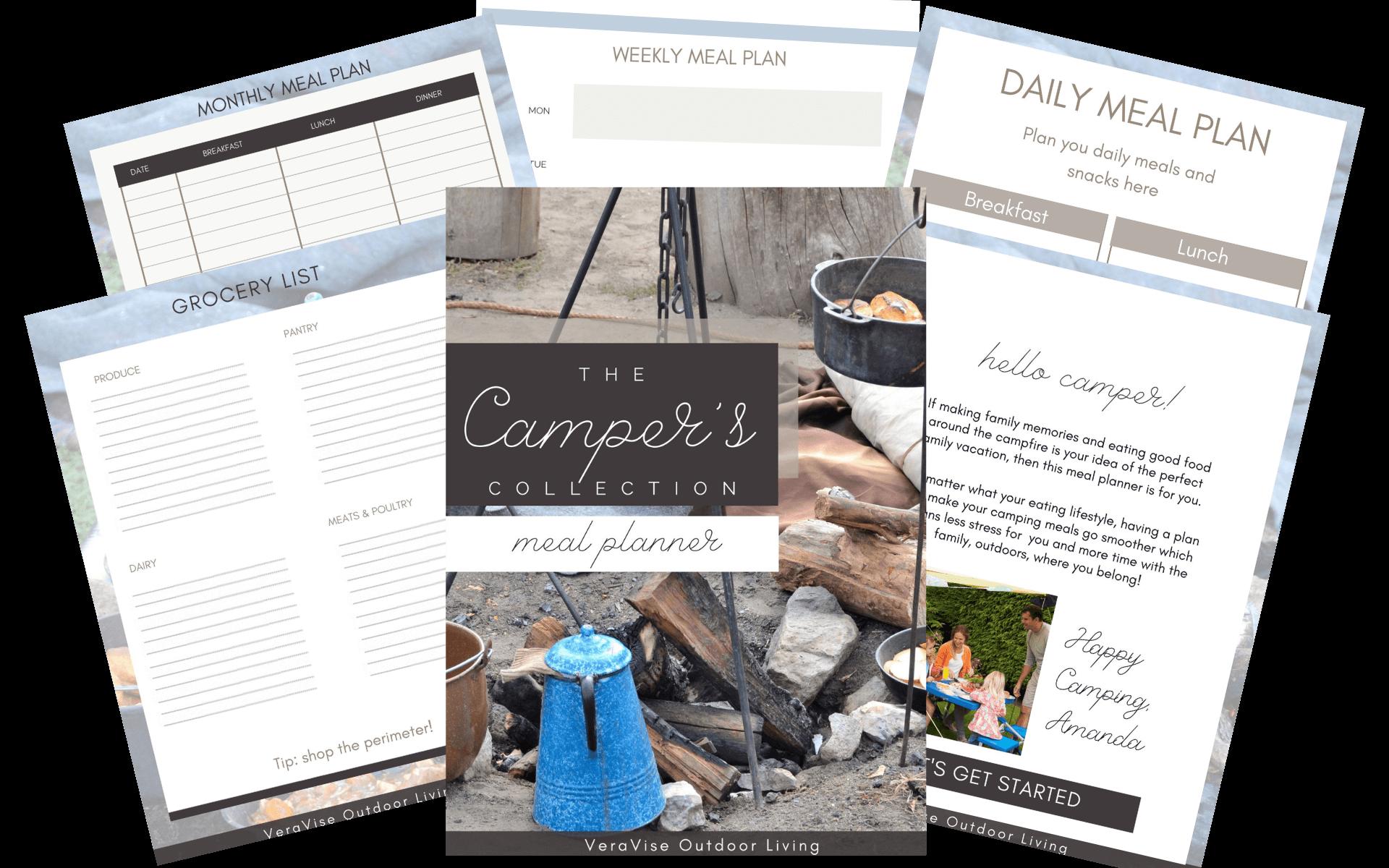 camping menu planner