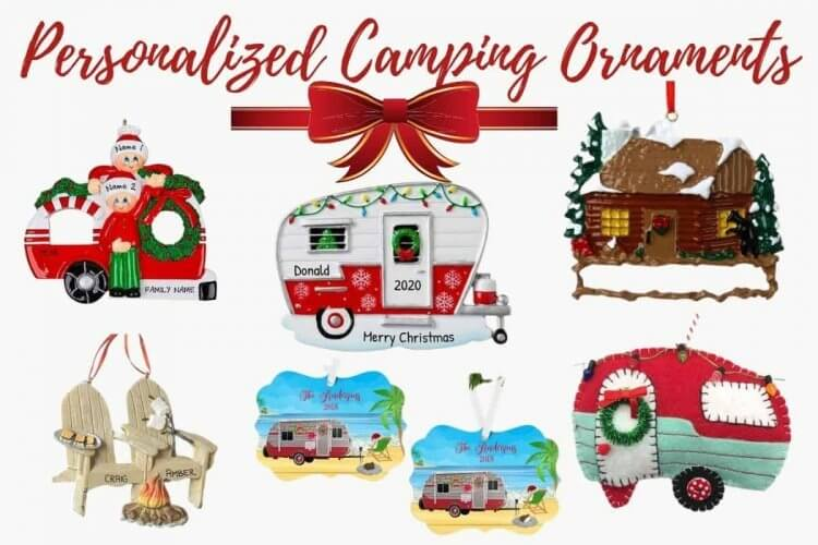 personalized Christmas camper ornaments
