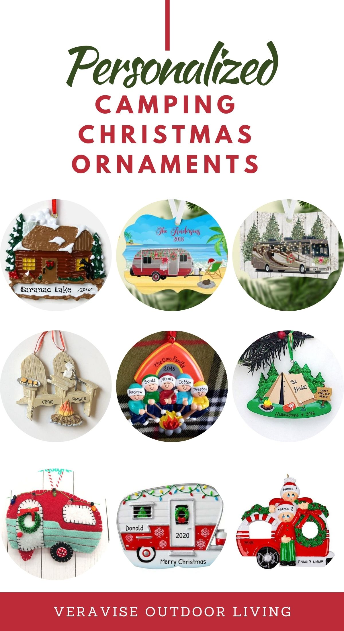 Personalized Camping Ornaments