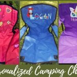 kids personalized camping chairs