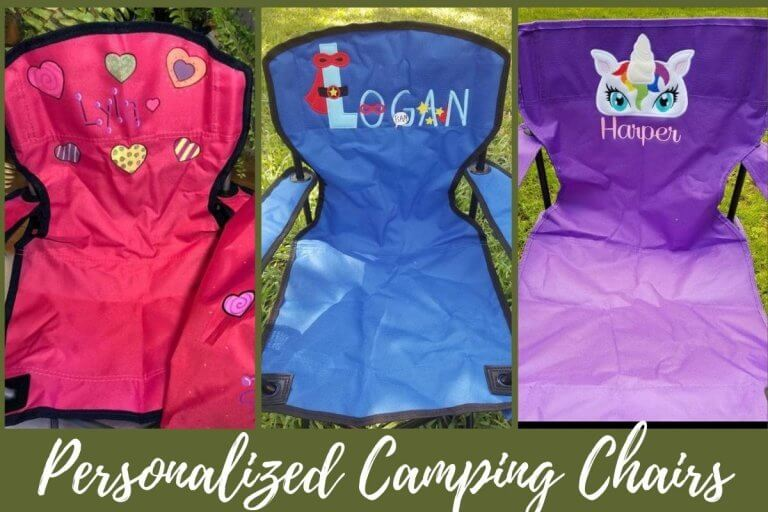 Kids Excited To Camp With These Personalized Kids Camping Chairs