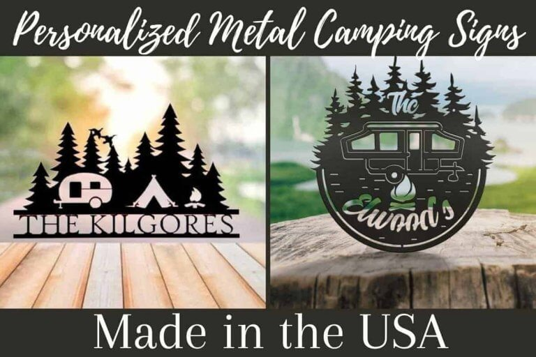 Personalized Metal Camping Signs Handmade In The USA