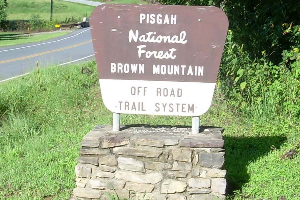 pisgah national forest brown mountain off road atv trail system