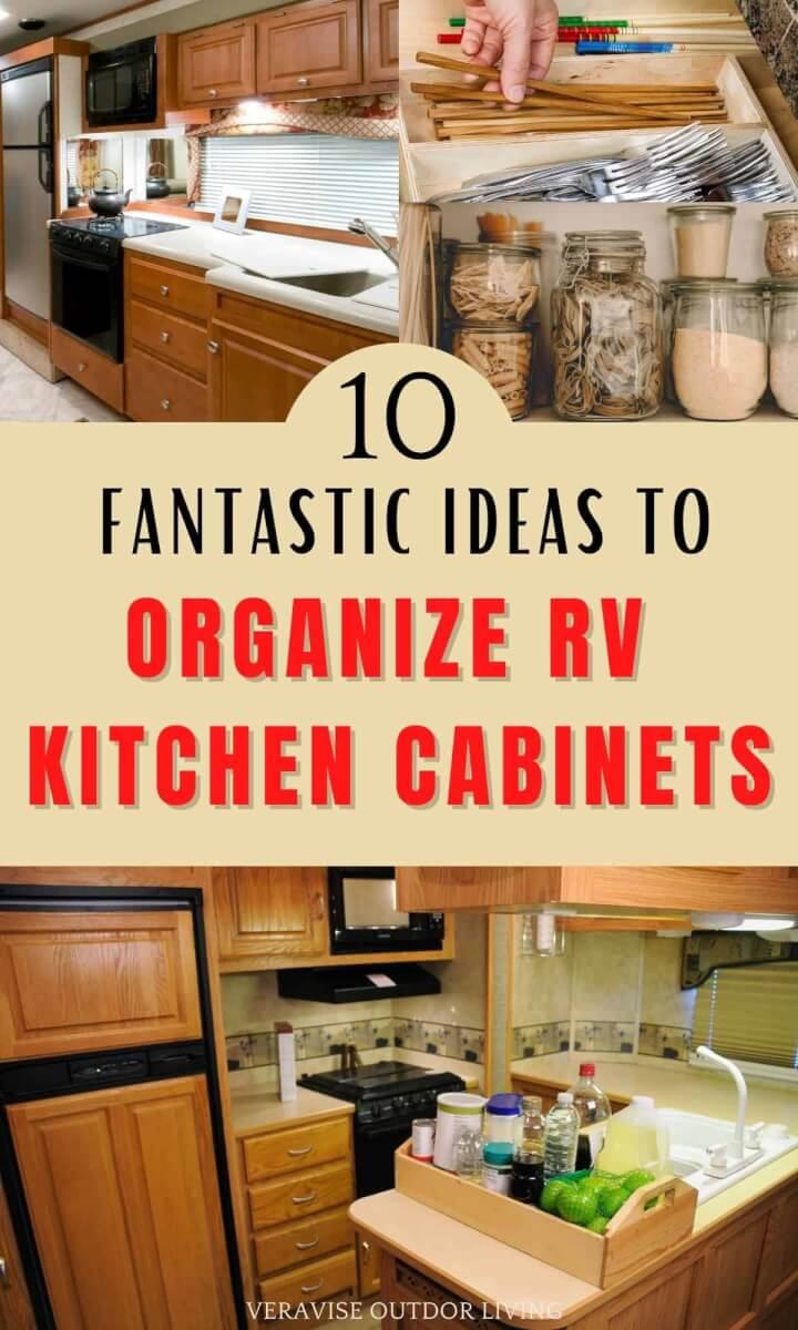 how to organize rv kitchen cabinets