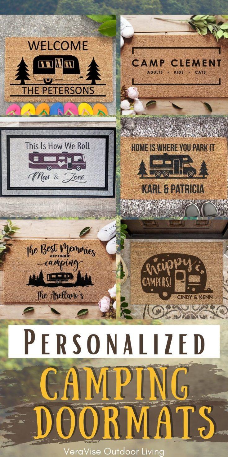 personalized camper doormats