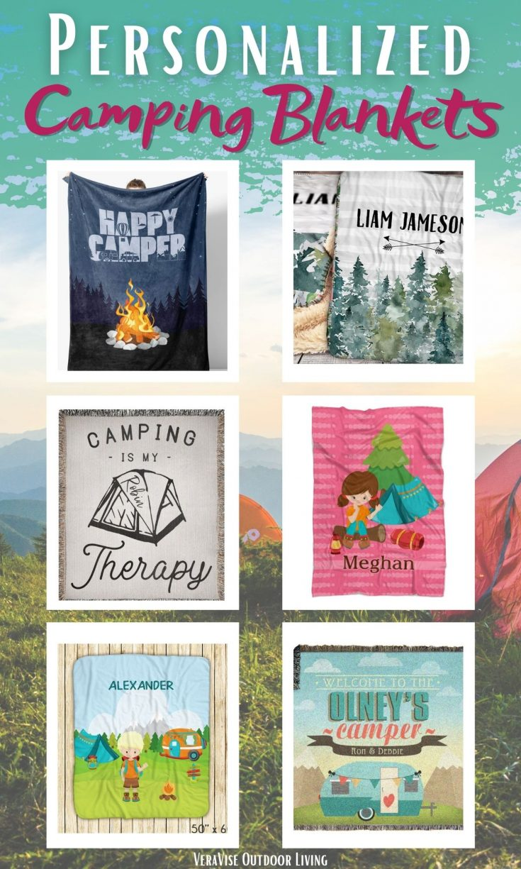 personalized camping blankets