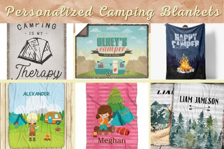 Personalized Camping Blankets To Keep You Warm And Cozy