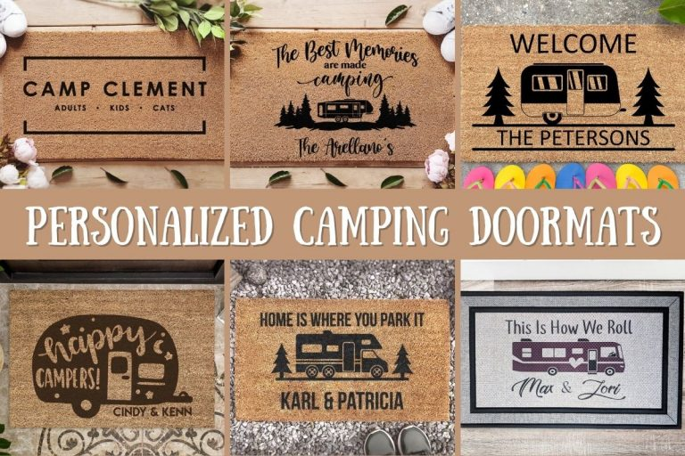 Welcome Everyone With Delight With These Personalized Camping Doormats