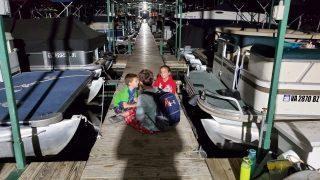 pontoon boat slip