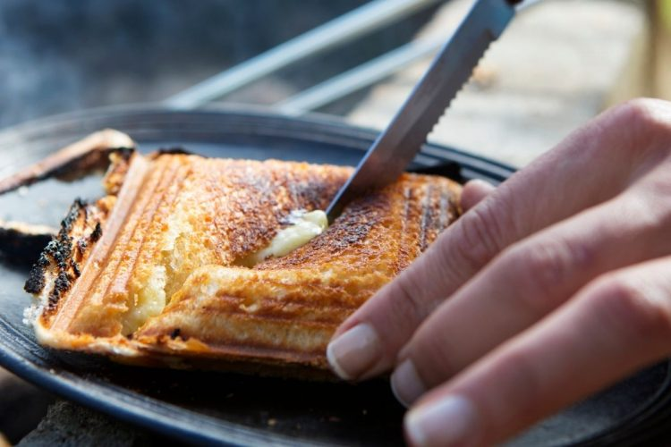 pie iron camping meal