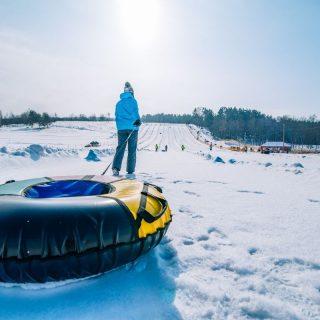Snow tubing in West Virginia
